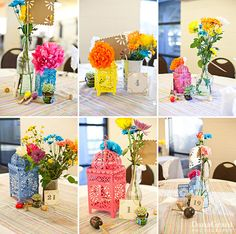 fiesta mexican themed wedding inspiration b - Wedding Themes Mexican Center Pieces Mexican Wedding Centerpieces, Mexican Centerpiece, Mexican Decorations, Table Decorations, Mexican Birthday Parties, Mexican Fiesta Party, Wedding Themes, Our Wedding, Wedding Ideas