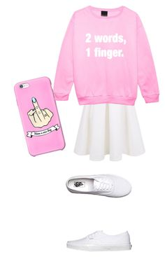 """""""Mmmk I'm annoyed"""" by shootunicorns ❤ liked on Polyvore featuring Keepsake the Label and Vans"""