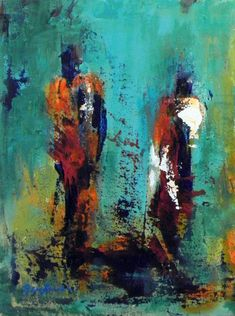 ORIGINAL Abstract EXPRESSIONIST Modern Art Oil Painting by benwill