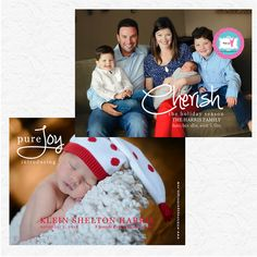 CHRISTMAS CARD: Birth Announcement Custom Photo Holiday Card