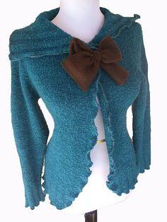Ruffle Cardigan Sweater