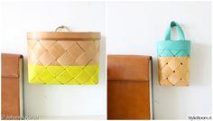 tee-se-itse,pärekorit,kierrätysmateriaali,neon,Tee itse - DIY