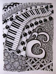 zentangle pattern music - Google-Suche
