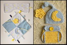 Twinkle Star Handmade Baby Sensory Ribbon, Lovey, Taggie Blanket + Burp Cloth #OhSewKnotty
