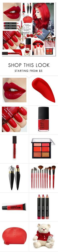 """Red Beauty"" by ilona-828 ❤ liked on Polyvore featuring beauty, White Label, Lipstick Queen, NARS Cosmetics, MAC Cosmetics, Christian Louboutin, Shany, Torrid, Bobbi Brown Cosmetics and FOSSIL"