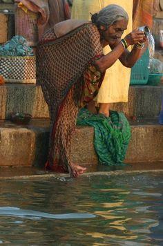 Hindu ritual in river Ganges