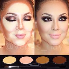 Contouring your face..add Shimmery Bronzers to Illuminate your cheekbones!
