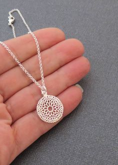Silver Filigree Necklace | Sterling Silver Floral Necklace MarciaHDesigns | Handmade Jewelry
