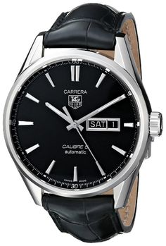 Tag Heuer Men Watches : TAG Heuer Men's WAR201A.FC6266 Analog Display Automatic Self Wind Black Watch