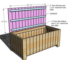 I'm going to make this bench/ storage box for my potting and hand gardening tools. The plastic ones are ugly and expensive. I'll put a cushion pad on top with a nice sunbrella fabric.