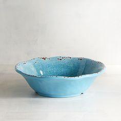 Carmelo Aqua Melamine Dinner Bowl Blue