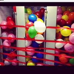 Balloons in the stalls - senior prank!