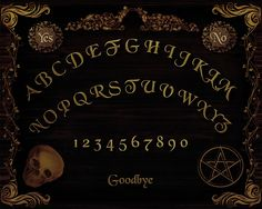 Digital Printables: Free Ouija Board Printable for Halloween Projects