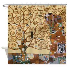 Gustav Klimt Tree Of Life Shower Curtain on CafePress.com