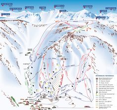 Las leñas trail map - Wanna go there ASAP Trail Maps, Great Places, Skiing, Travel, Outdoors, Mendoza, Snowboard, Vacations, Spaces