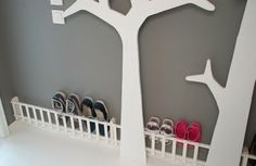 Fence for the shoes in the hallway :)  Also trees to hang coats etc on!