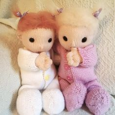 Baby Poppets including doll hair tutorial by HuggableBears on Etsy