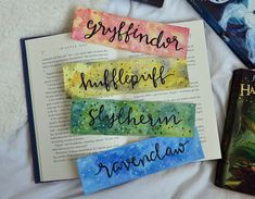 Harry Potter House Bookmarks by RegularReads on Etsy