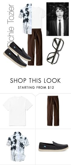 """""""Richie tozier (""""it"""")"""" by juliacerisano ❤ liked on Polyvore featuring Noon Goons, Carhartt, TOMS, ZeroUV, men's fashion and menswear"""