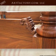 Hand Carved Walnut Bed: Fine Art Wood Carvings By Master Craftsmen - high relief acanthus leaf designer headboard and footboard with fine art quality finish Diy Solar System, Latest Bed, Iphone Wallpaper Sky, Bed With Posts, Wood Bedroom Furniture, Headboard Designs, Headboard And Footboard, Bed Design, Wood Carvings