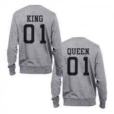 King 01 And Queen 01 Couple Sweatshirts Cute