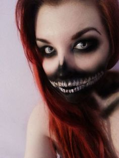 Pretty halloween make up ideas 31