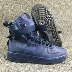 the best attitude cba56 4e6c9 Femme Homme Nike Special Forces Air Force 1 High Bleu Pas Cher