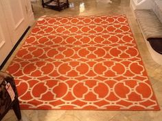 This great indoor/outdoor area rug can be found at the Madden-McFarland Boutique.  On sale this week for $225.  Just hose it off and youre good to go. pinned with Pinvolve - pinvolve.co