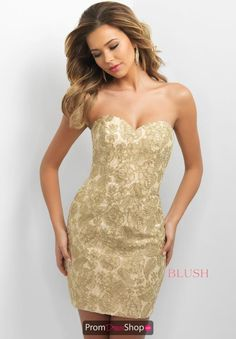 Blush Fitted Short Dress C357