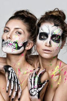 Halloween creepy makeup fresh color accents