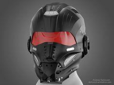 Concept of a Helmet Tactical Helmet, Airsoft Helmet, Taktischer Helm, Motorcycle Helmet Design, Women Motorcycle, Motorcycle Quotes, Badass, Los Primates, Futuristic Helmet