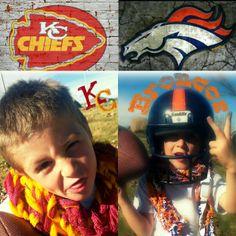 "♥""BIG GAME""♥ scarf Designs by Ashley Designs #Broncos vs.#KansasCity Chief's www.ashleydesignsllc.com"