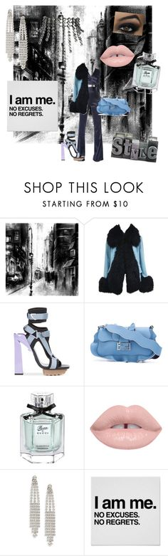 """""""City Girl"""" by gigiglow ❤ liked on Polyvore featuring Home Decorators Collection, Vivienne Westwood, Versace, Fendi, Gucci and Yves Saint Laurent"""