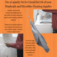 Extend the life of your cleaning products when you wash them