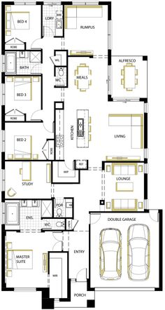 Matisse 29 static new New House Plans, Dream House Plans, House Floor Plans, Carlisle Homes, Best Home Plans, Kitchen Layout Plans, Craftsman Floor Plans, Home Design Floor Plans, House Blueprints
