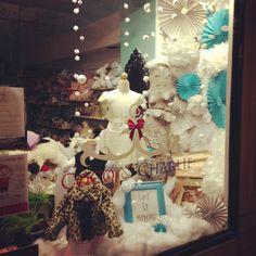 Coco & Charlie Children's Store Winter Window retail display