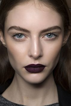 Fall Beauty | Goth Makeup How-To | Dark black / berry lipstick look
