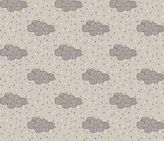 rainy cloud fabric by katarina on Spoonflower - custom fabric