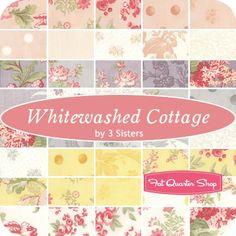 "Whitewashed Cottage Layer Cake3 Sisters for Moda Fabrics - Layer Cake Fabric & 10"" Squares | Fat Quarter Shop"
