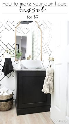 One of my most popular images of all times is the below photo of my powder room and believe it or not it's partially due to that huge tassel hanging on the door. I get asked about it all time. I've be