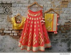 Elegant Orange and Yellow Color Bollywood Lehenga Choli Online ,Indian Dresses… Lehenga Sari, Orange Lehenga, Anarkali, Sarees, Bridal Lehenga, Brocade Lehenga, Bollywood Lehenga, Bollywood Style, Indian Bollywood