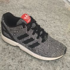new style 47781 d7e41 adidas Shoes   Adidas Torsion Zx Flux Snakeskin Size 3   Color  Black White