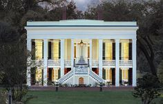 Bocage Plantation. Darrow, Louisiana. Designed by Architect James Dakin and Built in 1837.