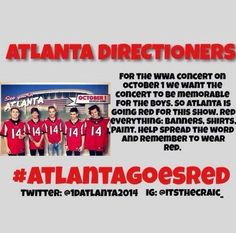 If anyone's going to Atlanta please pin or spread it :) thanks !! Let's do this ❤️