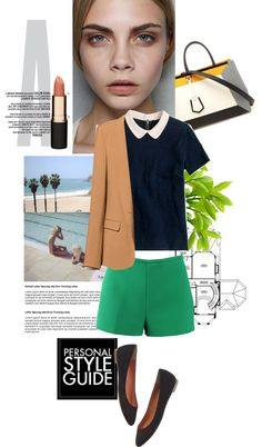 """""""blazer and shorts"""" by lelezd ❤ liked on Polyvore"""