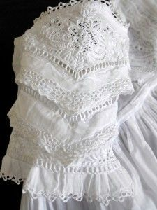 victorian sleeve, on a christening dress.  ox