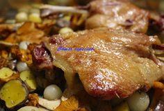 Fácil confit de pato con verduras y salsa de frutos del bosque ~ Comer especial