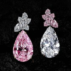 Pink and white diamond pear shape earrings by Jacob & Co It's my pink gemstones 💖💝💞💟💕 Diamond Studs, Diamond Earrings, Diamond Jewelry, Diamond Heart, Drop Earrings, Pink Bling, Pear Shaped Diamond, Designer Earrings, Designer Jewelry