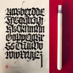 Daily practice. #blackletter #lucabarcellona