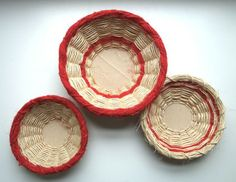 red and natural baskets from Martha Stewart Living